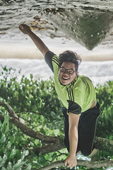 Inverted Perception (gabrieldiong) Tags: inverted beach tree climb