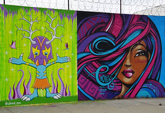 Welling Court Mural Project - Astoria, Queens, NYC (SomePhotosTakenByMe) Tags: woman frau wall mauer usa urlaub vacation holiday nyc newyork newyorkcity america amerika queens astoria mural wandbild kunst art graffiti wellingcourt wellingcourtmuralproject muralproject outdoor toofly mariacastillo castillo dennisbauser bauser sinned