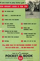 Pocket Books 928 - Ben Hogan - Power Golf (back) (swallace99) Tags: pocketbooks vintage 50s golf paperback