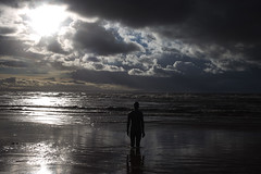 Clouds over Anthony Gormley's Another Place (ProSession) Tags: crosbybeach anthonygormley merseyside wild weather seashore castironstatue