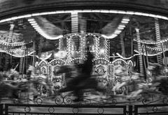 Riders on the ... (stopdead2012) Tags: london southbank carousel monochrome motion ride blur