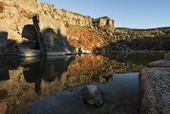 Pano Laguna Negra (Oscar García) Tags: laguna lagoon soria spain reflejos reflections lake rocks rocas arboles trees autumn otoño
