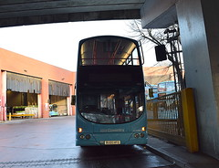 Volvo B7TL/Wright Eclipse Gemini 4693 at the exit gates (paulburr73) Tags: 4693 wrightbus wright bus wt wheatleystreet nxc nxcoventry nationalexpress depot garage exit gates departure eclipse gemini bu05hfo newin2005 nxwm westmidlands 2016 december doubledecker