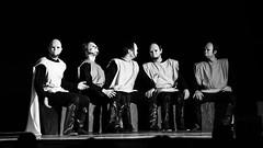 (maxlaurenzi) Tags: mask people staring chatting talking dark light black white strange dramatic surreal