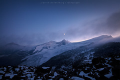 Moonrise over the glacier (wende60) Tags: mountains alps glacier moon moonrise night twilight hike tyrol austria grossvenediger tauern frosty blue