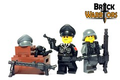 Nov 2016 - WW2 German Officer (BrickWarriors - Ryan) Tags: brickwarriors custom lego minifigure weapons helmet armor ww2 world war german ss officer pistol gun hitlers buzzsaw military stick grenade suspenders