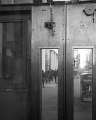 From Behind The Curtain (Tim Roper) Tags: chicago leica street michigan avenue downtown mechanical pedestrians crosswalk