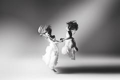 Beautiful flight... (Jennifer Blakeley) Tags: jump jumping dramatic dreamy studio moody hair movement crazy beautiful children childhood portrait