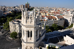 Panorama Madrid (collage42 Pia-Vittoria//) Tags: spagna spain espana madrid ayuntamiento correos palacio torre panorama landscape tower tejados roofs tetti