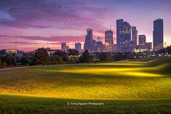 Before the rain takes over. (trongnguyenphotos) Tags: america architecture bayou buffalo buildings business center city cityscape dawn downtown dusk epic financial green high highrise houston illuminated landmark landscape lawn lit modern morning night office park path purple rise scenic sky skyline skyscraper states sunrise sunset texas towers town travel twilight tx united urban us usa view way