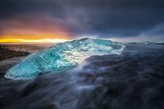Iceland (Mark McLeod 80) Tags: markmcleod markmcleodphotography iceland ice jokulsarlonlagoon seascape moody