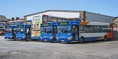 Buses at Stagecoach in East Kent's Herne Bay Depot (Gerry A Powell) Tags: bus pointer dennis dart stagecoach scania hernebay infocus highquality eastkent plaxton 15555 alexanderdennis 34439 34658 34546 34540 enviro400 gx04eyr kv53ezr gx04eyy gx54dxj gn59exf