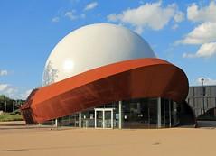 Wherever I lay my hat....... (ohank1951) Tags: architecture spaceship groningen architectuur staal ef24105mmf4lisusm ruimteschip cortenstaal canoneos1100d infoversum centraalstaal archiview jackvanderpalen
