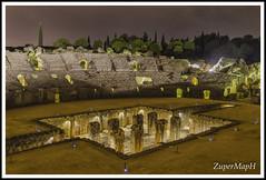 Itlica bajo Perseo (ZuperMapH) Tags: rome roma night noche sevilla roman andalucia ruinas empire nocturna anfiteatro italica arqueologa trajano santiponce hispania imperio romanas itlica