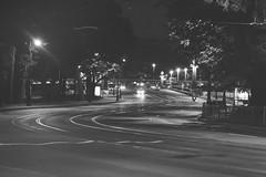 Night Street (inferusvv) Tags: road street city light white black cars car saint dark petersburg
