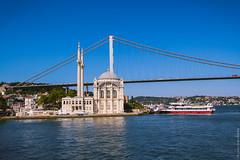 Мечеть Ортакёй и первый Босфорский мост