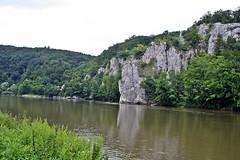 Donaudurchbruch - Danube Gorge (zorro1945) Tags: river germany bayern deutschland bavaria cliffs limestone donau riverdanube swabianalb donaudurchbruch limestonecliffs danubegorge