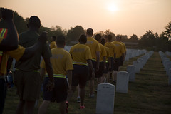 Chief Petty Officers and CPO selects visit graves in Arlington National Cemetery (Arlington National Cemetery) Tags: arlington sunrise virginia us dc washington unitedstatesofamerica navy graves va arlingtonnationalcemetery prideday anc cpo chiefpettyofficer