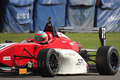 MGR Motorsport's Hernán Fallas in BRDC F4 at Donington Park, September 2015