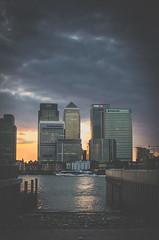 Moody Skies (RKE_Photography) Tags: city sunset storm london skyline buildings nikon moody warf skyscrapers canary d7000