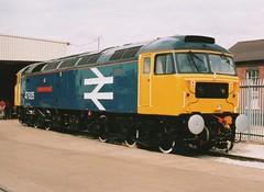 "BR Large Logo Blue Class 47/4, 47635 ""The Lass O'Ballochmyle"" (37190 ""Dalzell"") Tags: br spoon brush duff doncaster sulzer openday class47 type4 47029 class474 47635 wabtecrail d1606 largelogoblue thelassoballochmyle rfseindustries railnetmodifications"