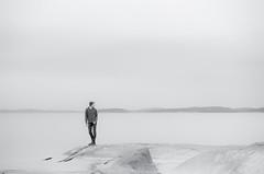 Martin, July 6, 2015 (Ulf Bodin) Tags: sea summer monochrome landscape se rocks martin cloudy sweden outdoor shore sverige hav norrland högakusten örnsköldsvik ångermanland västernorrlandslän greenwinter skeppsmalen canoneos5dmarkiii canonef70200mmf28lisiiusm