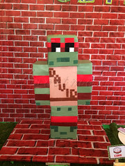 TMNT MINECRAFT cake (Miss_Gigi) Tags: party cake kids children kid ninja parties turtles mutant tortuga tmnt teenage tortugasninja fiestainfantil minecraft