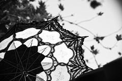 Sexy (S. Hemiolia) Tags: blackandwhite bw zeiss umbrella sevilla lace dxo manualfocus f4 ombrello pizzo 80200 siviglia parasole variosonnar d700