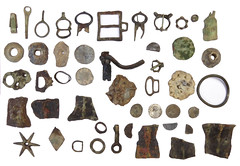 Metallic Size Ratio Montage (Welcome to The PAST) Tags: gold hammered roman brooch medieval celtic flint scraper chatelaine neolithic ironage fibula romanobritish metaldetecting knapped samianware metaldetectingfinds