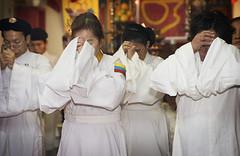 Women in a Cao Dai temple in Dallas, Texas
