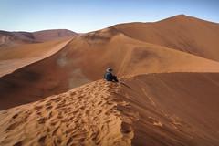 Contemplation (Leonardo Del Prete) Tags: orange desert dunes dune namibia arancione deserto contemplation sossusvlei contemplazione
