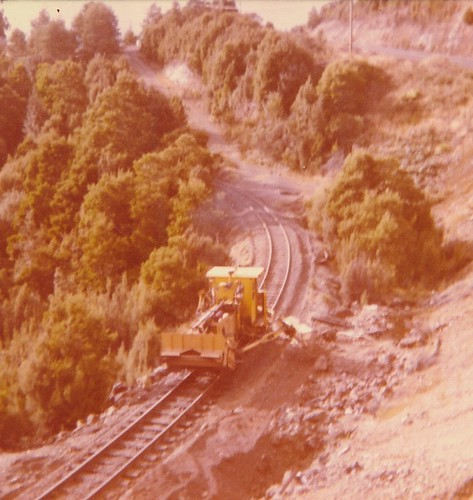 Track Machine, Emu Bay Railway, c 1977.