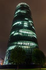 """Frankfurt - """"Geripptes"""" / Westhafen Tower (Gudrapalli) Tags: tower canon germany deutschland eos am hessen frankfurt main westhafen 600d geripptes"""