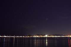 Look at the stars, look how they shine for you. (secretheart.) Tags: sea summer sky france beach stars lights holidays cannes south august 2015