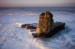 Mood of the Shark 2 (Childe Roland) Tags: ocean california longexposure sunset santacruz beach nature sunrise hiking surfing cliffs