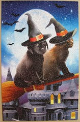 Have Broom, Will Travel (Tom Wood) (Leonisha) Tags: dog cat chat puzzle hund katze broom jigsawpuzzle besen hexenbesen