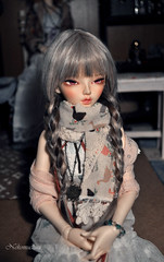 The perfect hair.. (nekomuchuu63) Tags: house face up hair grey eyes mod doll slim 14 chloe wig jc bjd fairyland viridian mako msd entangled minifee