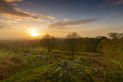 Autumn Sunrise at Beacon Hill (John__Hull) Tags: wood uk autumn trees england sun nature clouds sunrise countryside nikon rocks leicestershire hill sigma filter bracken ferns 1020mm beacon charnwood ndgrad d3200