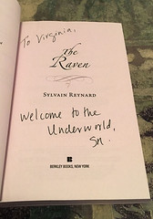 THE RAVEN by Sylvain Reynard - Autographed Title Page (valeehill) Tags: book autograph novel theraven sylvainreynard theflorentineseries
