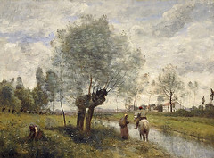 Landscape at Coubron, 1870 // by Camille Corot (France, 1796-1875) (mike catalonian) Tags: france landscape 1870 1870s xixcentury camillecorot