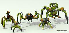 Four-legged invasion forse (_bidlopavidlo_) Tags: digital robot lego designer walker mecha mech povray ldd