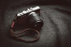 Olympus PEN Lite E-PL3 with Panasonic Lumix G 25mm f/1.7 Prime Lens (renatovalenzuelajr) Tags: lumix gear olympus panasonic olympuspen cameraporn m43 mft gordys niftyfifty gordysstraps akiasahi micro43 microfourthirds 25mm17 epl3 akiasahileatherskins