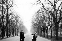 S & O (II) (jonny_weissmueller) Tags: vienna wien trees blackandwhite streetphotography kungfu praterhauptallee nikkor50mm14 lookslikefilm peopleinnature filmindigital