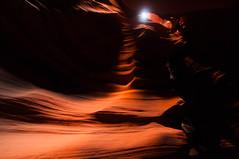 Upper Antelope Canyon Grainy Dec 27 2015 Bear Formation-3379 (houstonryan) Tags: arizona art nature print lens landscape photography utah carved nikon sandstone photographer ryan cut nation houston az canyon tokina erosion upper photograph page antelope navajo redrock slot narrow flashflood 1118mm d300s houstonryan hosutonryan pohtograph