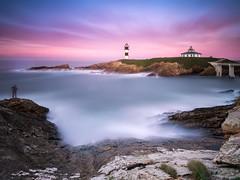 Isla Pancha (bertigarcas) Tags: espaa lighthouse seascape marina landscape faro atardecer paisaje olympus galicia lugo zuiko omd 918 ribadeo em5 islapancha