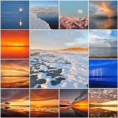 A Few of My Favorite Scenes in 2014 (Great Salt Lake Images) Tags: utah antelopeisland greatsaltlake mosaicmaker bighugelabs 2015calendar