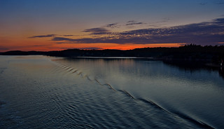 Sunset in Stockholm archipelago