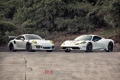 IMG_9023  #Porsche #GT3RS and Ferrari Speciale` (Itz|kirbphotography.com) Tags: laferrari pagani huayra mclaren 650s p1 mp412c nobel 458 lexus lfa aston martin alfa romeo lamborghini ferrari exotic car automotive fast porsche itzkirb photography kirby digital canon 5d 5dmkii sv gto 599 maserati aventador nissan gtr mercedes dtm amg ariel atom veyron bugatti acura nsx enzo sf bay area sanfrancisco