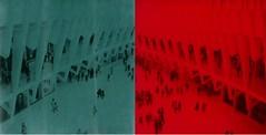 Oculus (anniebee) Tags: polaroidweek roidweek autumnpolaroidweek polaroidweek2016 polaroid impossibleprojectfilm polaroid680camera nyc blackandredduochromefilm blackandgreenduochromefilm dayone|phototwo diptych theoculus instantfilm poladiptych