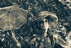Lady with a parasol (vandalenmike) Tags: pentaxmx pentaxfilmcameras pentax 35mmfilm film analog blackandwhite monochrome